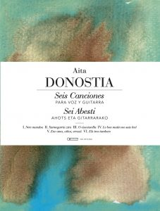 seis canciones voz y guitarra AITA DONOSTIA